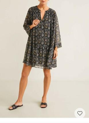 Летнее шифоновое платье ,туника,пляжное платье,на лето на подкладке3 фото