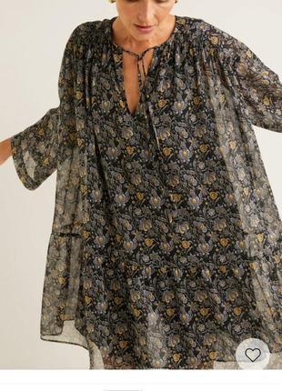Летнее шифоновое платье ,туника,пляжное платье,на лето на подкладке