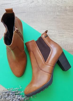 Кожаные ботинки на устойчивом каблуке