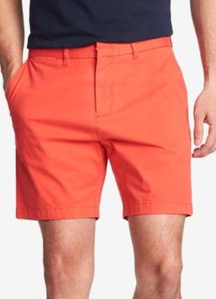 🎁1+1=3 стильные яркие кирпичные шорты чиносы easy, размер 50 - 52, большой размер