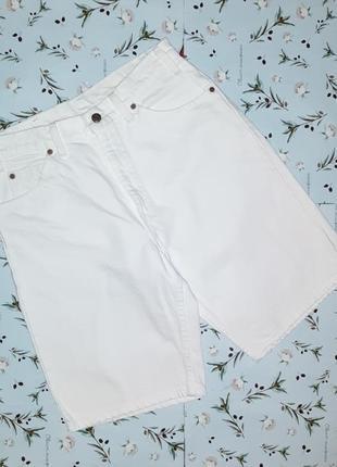 🎁1+1=3 крутые фирменные джинсовые мужские белые шорты levis, размер 44 - 46