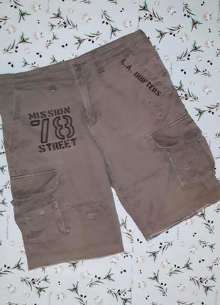 🎁1+1=3 стильные мужские шорты с надписями и карманами topman, размер 48 - 50