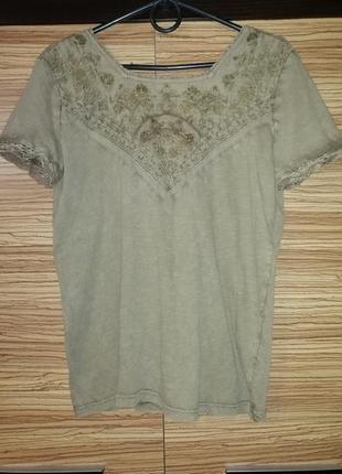 Лёгкая, натуральная футболка zara 100% cotton