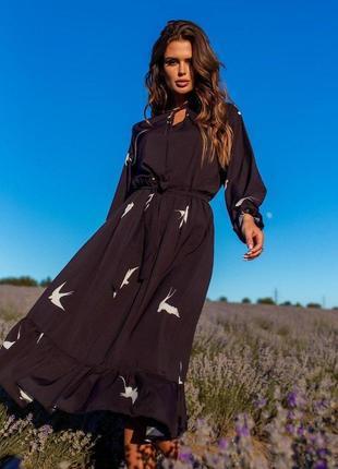 Платье чёрного цвета в пол