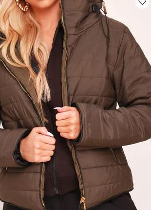 I saw it first. товар из англии. стеганная куртка деми в палитре хаки.