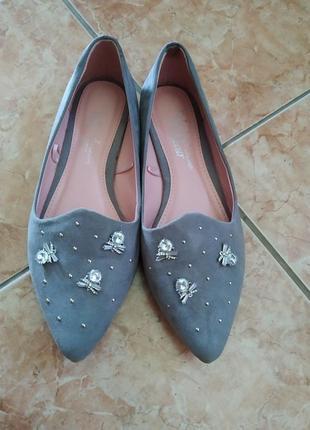 40 p. стильные туфли балетки fabulous footwear by.  george.