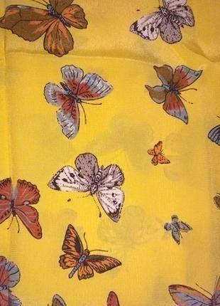 Christian fischbacher шикарный шарф из натурального шелка,шов роуль