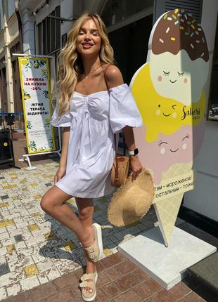 Сарафан летний белый платье