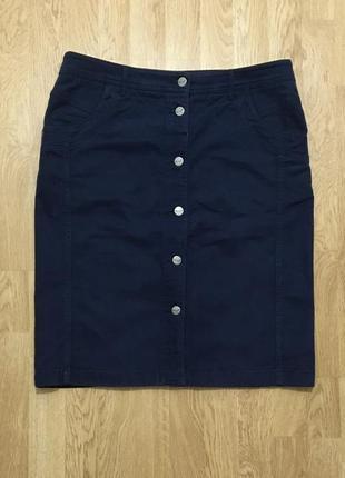 Шикарная хлопковая юбка на пуговицах per una