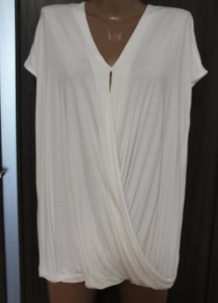 Белая трикотажная блузка george в идеальном состоянии 5xl