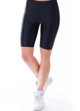 Велосипедки спортивные шорты  треки, бифлекс эластик, черные шорты, женские шортики