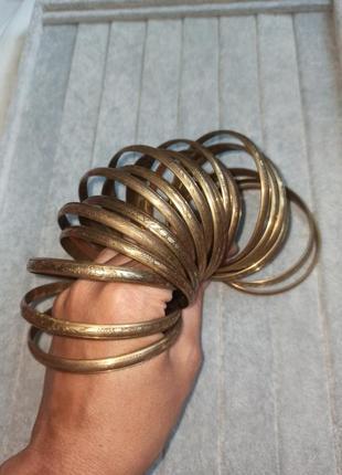 Набор индийских браслетов металл латунь