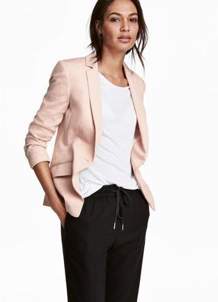 Трикотажный пиджак h&m 0440175003 розового цвета