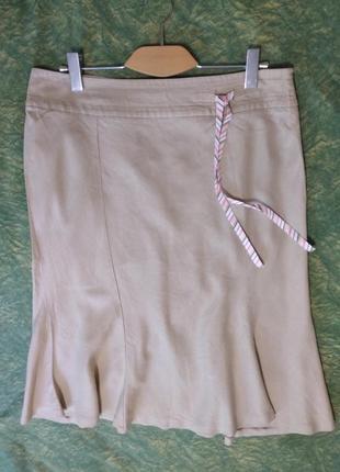 Новая натуральная льняная фирменная юбка