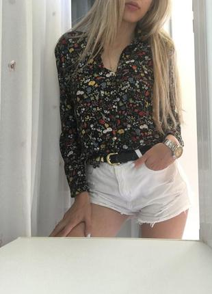 Рубашка zara новая коллекция в цветочный принт