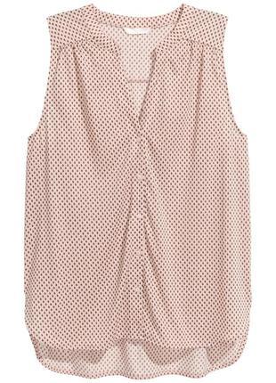 Топ без рукавов h&m 0459394001 розового цвета