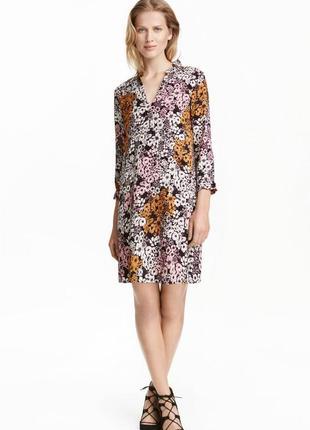Платье с рисунком h&m 0417957002 черного цвета