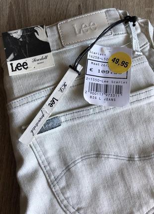 Lee джинсы оригинал scarlett skinny джинси скинни 26/33 скини w26 l33 узкие светлые