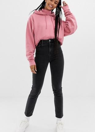 Черные джинсы мом мам высокая посадка на талии момы collusion