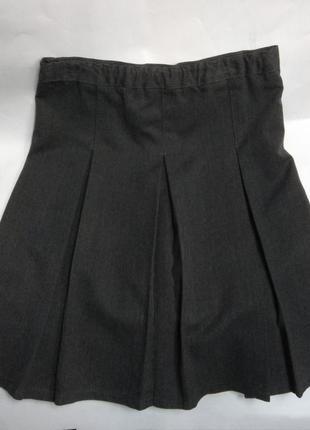 Серая школьная юбка со складками school life 8 лет