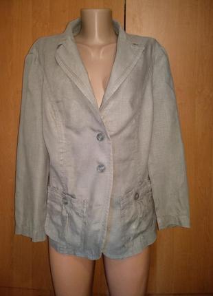 Шикарный льняной пиджак лён пог-53 см