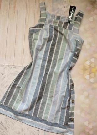 Легкий льняной сарафан