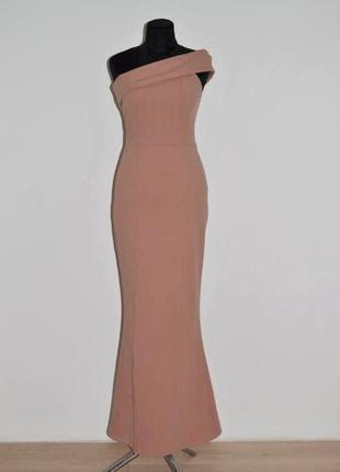 Шикарное вечернее нюдовое платье. силуэт рыбка. англия