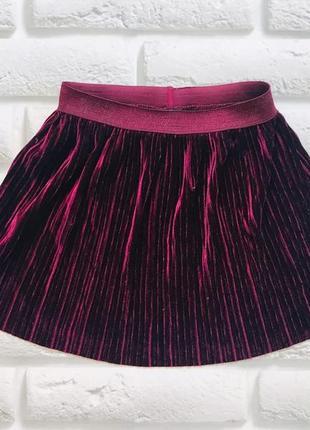 I love next  стильная велюровая  юбка на девочку 7 лет