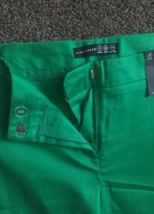 Зелені брюки до щиколоток