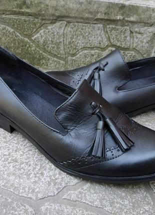 38 38,5 р. clarks кожаные удобные туфли