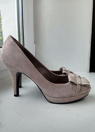 Замшевые туфли zara, размер 391 фото