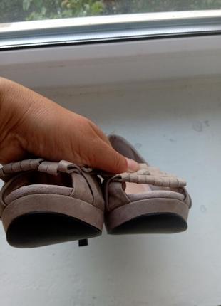 Замшевые туфли zara, размер 394 фото