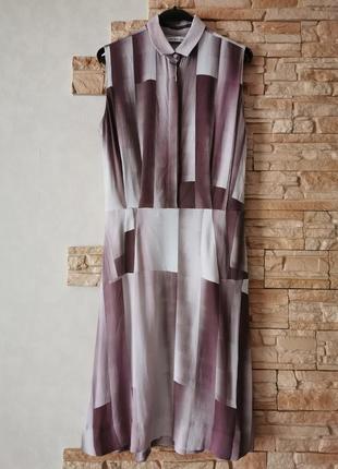 Платье миди с кармашками, оригинальная расцветка из вискозы & other sto