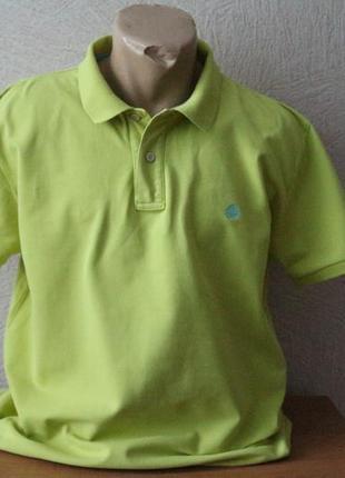 Springfield однотонное салатовая тенниска трикотажная рубашка l-xl