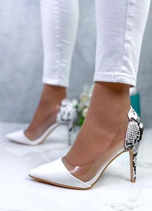 Новые женские белые туфли лодочки