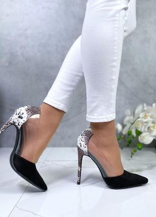 Новые женские чёрные  туфли лодочки