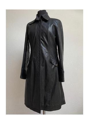 Max&co кожаный утепленный винтажный плащ max mara