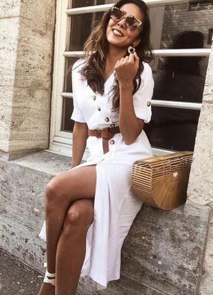 Шикарное белое платье zara