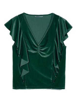 Новая велюровая футболка stradivarius