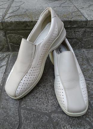 40 р. padders кожаные удобные туфли мокасины