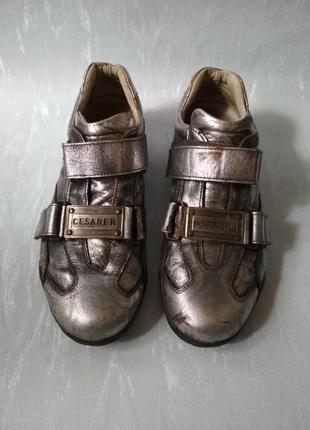 Итальянские кожаные кроссовки спортивные туфли cesare paciotti. носите натуральное!