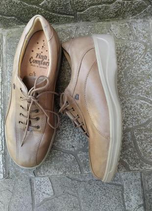 38 p. finn comfort кожаные супер комфортные туфли