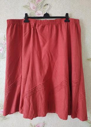 Женская юбка большого размера # юбка миди из натуральной ткани # anthology