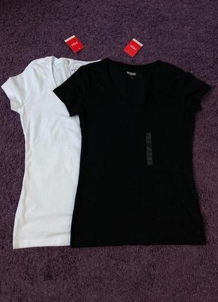 Набор женских базовых однотонных футболок