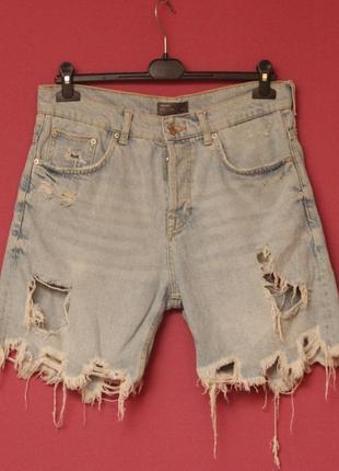 Zara рр 31 шорты джинсовые хлопок