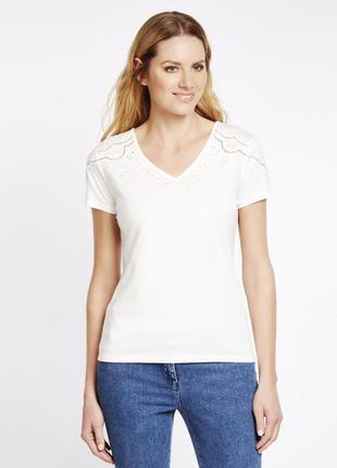 Легкая футболка с перфорацией laura asley  48-50