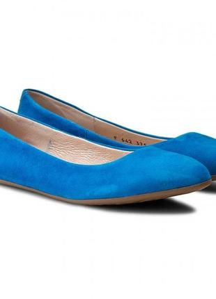 Яркие балетки туфли из натуральной замши carlo pazolini