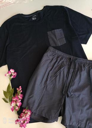 Натуральний котоновий домашний комплект пижама от немецкого бренда livergy 4хл-5хл