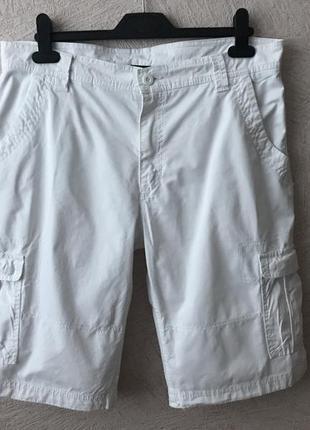 Jean pascale белые шорты с карманами