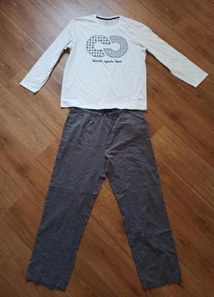 Домашний костюм пижама реглан и штаны универсальный костюм для дома